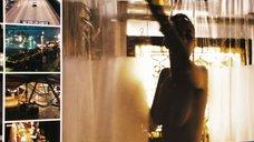 Обнаженная Пола Пэттон принимает душ