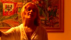 Мария Порошина в прозрачном костюме